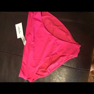Hot pink high waisted swim suit bottoms